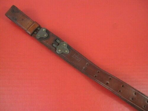 WWII Era US ARMY AEF M1907 Leather Sling for the M1Garand Rifle - Boyt -44- NICE