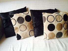 4 beautiful cushions
