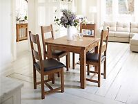 Dining table & 6 chairs, brand new gorgeous set