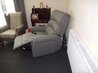 2 x Augusta Grey Dual Motor Electric Reclining Chairs