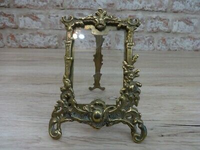 Small Brass Picture Photo Frame Vintage Rococo Art Nouveau