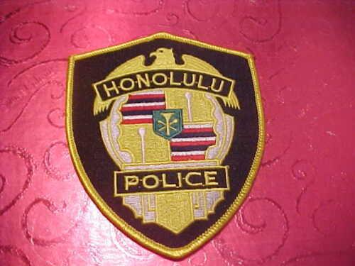 HONOLULU HAWAII POLICE PATCH SHOULDER SIZE UNUSED
