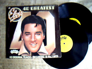 Elvis-Presley-40-Greatest-Hits-Label-Arcade-ADEP-doppio-Lp-33