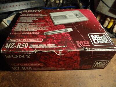 Sony Portable Mini Disc Recorder  MZ-R50 Walkman NEW-RARE with accessories