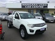 2011 Mitsubishi Triton MN MY12 GLX White 5 Speed Manual Cab Chassis Wangara Wanneroo Area Preview