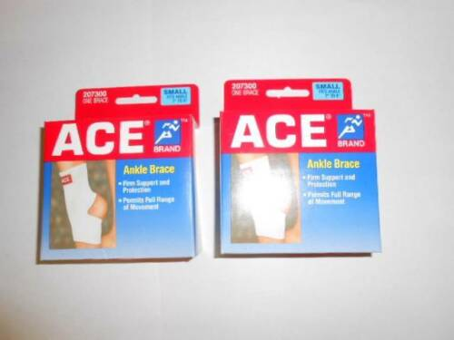 """qty 2  ACE  Ankle Brace 207300 SIZE: SMALL  fits 7"""" to 8""""  F"""