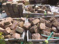 Pink Granite Setts 2.5 Tonnes