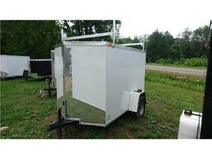 NEW  5X8 + V NOSE Enclosed CARGO TRAILERS