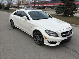 2013 MERCEDES CLS63 AMG*RED LEATHER DIMOND WHITE*MASSAGE SEAT