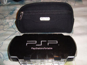 PSP HARD AND SOFT CASES FOR SALE GOOD CONDITION