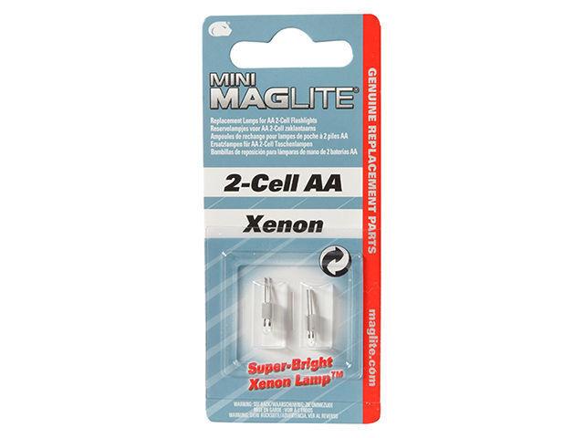 2er Pack Mini MAGLITE  Ersatzlampe für Maglite mit  2 Zellen  AAA