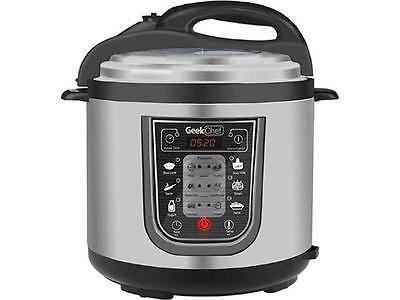 GeekChef 11-in-1 Multi-Functional Pressure Cooker, 6.3 Qt. / 1000W, Stainless St