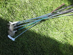 spectra golf clubs. Set of 7 right handed. 3,5,7,9 metals. Putte