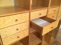 Bookcase / Storage Units - with drawers. Very solid quality items.