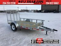 "2019 Galvanized 60"" x 10' Single Axle Utility Trailer Winnipeg Manitoba Preview"