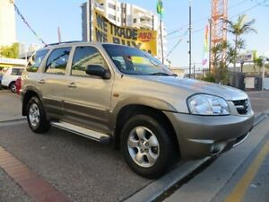 2002 Mazda Tribute Classic Gold 4 Speed Automatic 4x4 Wagon Southport Gold Coast City Preview