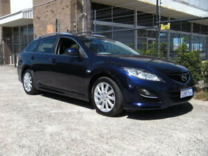 2010 Mazda 6 GH MY09 Classic Blue 5 Speed Auto Activematic Wagon Wangara Wanneroo Area Preview