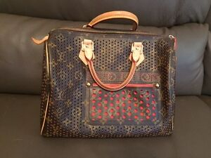 Louis Vuitton Orange Perforated Speedy Bag