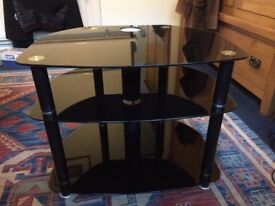"""Black Glass TV stand for up to 32"""" TV max"""