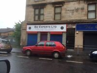 Shop to let for retail / office use Calder Streer Glasgow