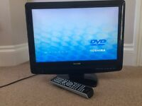 19inch Toshiba flat screen TV with integrated DVD player