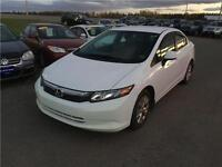 2012 Honda Civic Sdn LX*** HONDA WARRANTY BUMPER TO BUMPER***