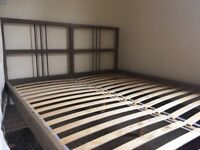 KING SIZED WOODEN BED Good condition COLLECTION ONLY