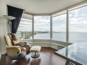 Furnished Waterfront 3 BR condo with 2 Parking Space