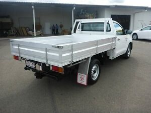 2009 Toyota Hilux TGN16R MY09 Workmate White 5 Speed Manual Cab Chassis Vincent Townsville City Preview