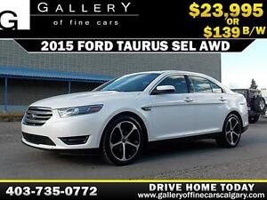 2015 Ford Taurus SEL AWD $139 BIWEEKLY APPLY NOW DRIVE NOW