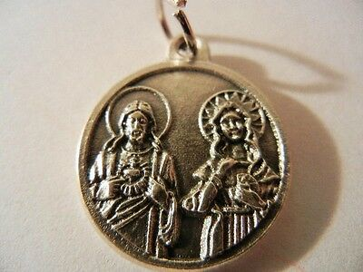 Sacred Heart & Immaculate Heart with Prayer New!  Made in Italy!  3/4