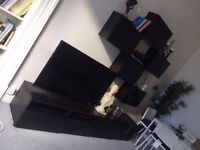 TV bottom unit and five shelves from Ikea BESTA (((excellent condition)))