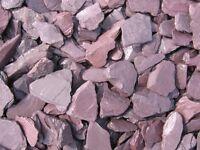 40mm plum slate garden/driveway chips