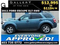 2011 Ford Escape XLT 4WD $119 bi-weekly APPLY NOW DRIVE NOW