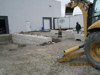 Excavation, trottoir, ralonge, garage, muret 47 ans expérience