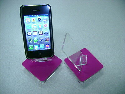 LOT 10 NEW STAND HOLDER CELL PHONE DISPLAY 1 in 1 HOT PINK