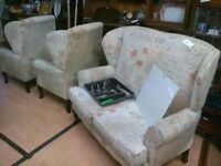 Three piece sofa set