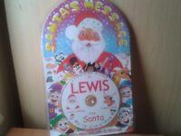 New personalised santa message CD-lewis