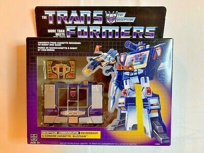 NEW Transformers Vintage G1 Exclusive Decepticon Soundwave with Buzzsaw Cassette