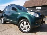 "0858 DIAHATSU TERIOS 1.5""KIRI"" LTD EDITION 4X4 RACING GREEN METALLIC 96K FSH FAB"