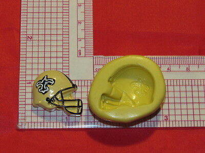 NFL Football New Orleans Saints Helmet Silicone Push Mold 935 Chocolate Candy ()
