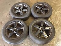 VW cady black alloy wheels with good tyres