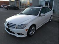 2010 MERCEDES BENZ C300 4MATIC/SUNROOF/WHT ON BLK LEATHER/LOADED