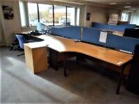 Pod of 4 corner desks