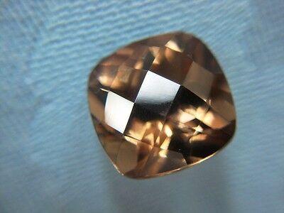 RAUCHQUARZ  -  CUSHION CHECKERBOARD  -  10 mm