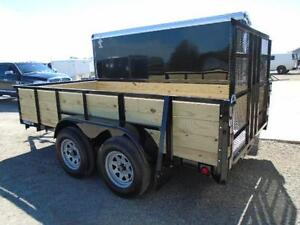 6 x 12 tandem axle landscape trailer - high sides -fits lots ! London Ontario image 2
