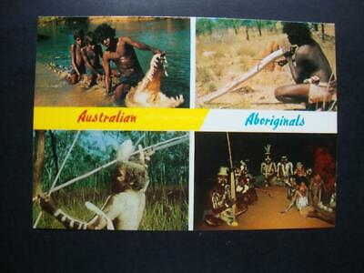 135) Australia The Four Views Of Australian Aboriginals In The Outback Postcard