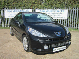 PEUGEOT 207 CC CONVERTIBLE 1.6 16V 120 COUPE GT BLACK / 2009 (59) ONLY 53K FSH!!