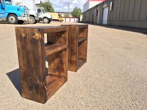 Brand New Handmade Nightstands (choose your stain color)