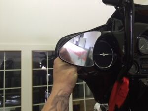 RC COMPONENTS  HARLEY STREET GLIDE BAGGER MIRRORS
